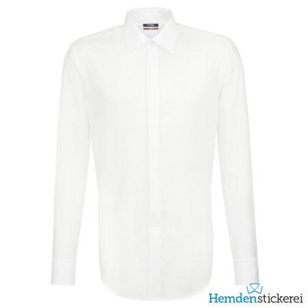 Seidensticker Hemd REGULAR 1/1 Arm Kent-Kragen Weiß