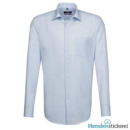 Seidensticker Hemd REGULAR 1/1 Arm Kent-Kragen Brusttasche extra lang Hellblau