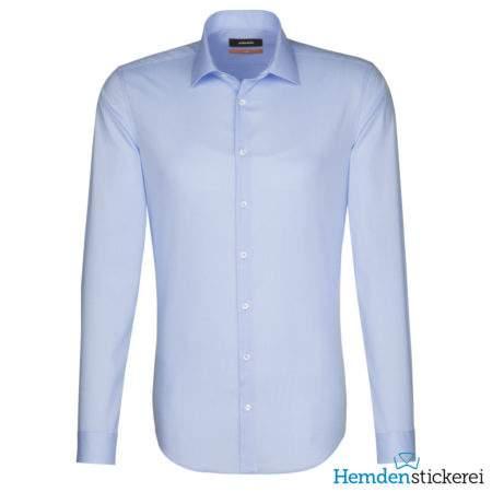 Seidensticker Hemd SLIM 1/1 Arm Kent-Kragen Blau